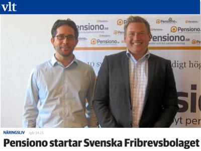 Pensiono startar Svenska Fribrevsbolaget