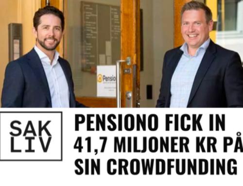 41,7 MILJONER KR PÅ CROWDFUNDING